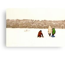Near Ruff Wood - Snow Scene Canvas Print