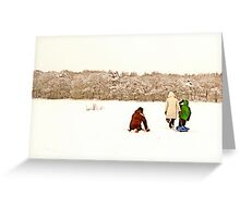 Near Ruff Wood - Snow Scene Greeting Card