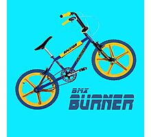 Retro BMX Burner T-shirt Photographic Print