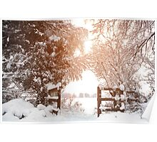 Ruff Wood Entrance - Snow Scene Poster