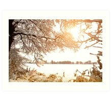 View From Ruff Wood - Ormskirk Snow Scene Art Print