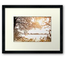 View From Ruff Wood - Ormskirk Snow Scene Framed Print
