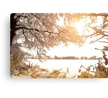 View From Ruff Wood - Ormskirk Snow Scene Canvas Print