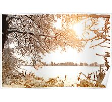 View From Ruff Wood - Ormskirk Snow Scene Poster
