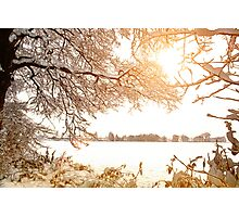 View From Ruff Wood - Ormskirk Snow Scene Photographic Print