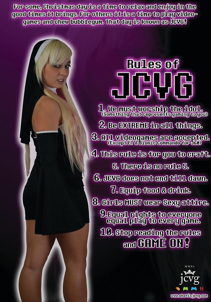 J.C.V.G. Rules Poster by BaronVonRosco