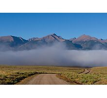 Fog In The Fast Lane Photographic Print