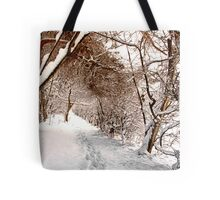 Secret Path - Ruff Wood - Snow Scene Tote Bag
