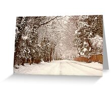 Snow - Ruff Lane Greeting Card