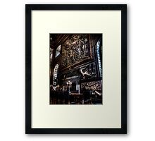 Fireplace in the Painted Hall Framed Print