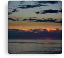 Aubergine Sunset - photography Canvas Print
