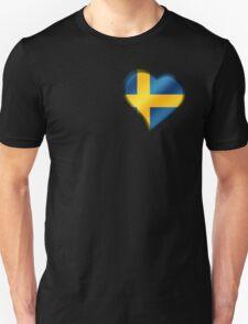 Swedish Flag - Sweden - Heart Unisex T-Shirt