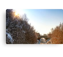 Ormskirk Railway Tracks - Snow Scene Canvas Print