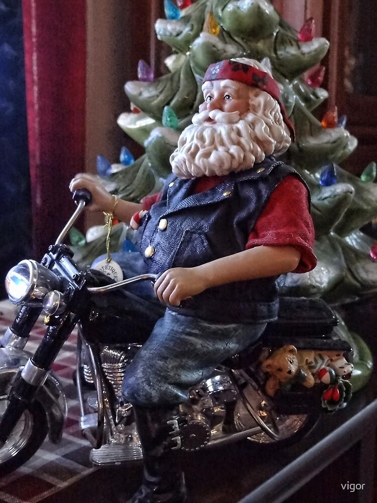 Santa on a Harley by vigor