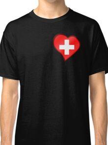 Swiss Flag - Switzerland - Heart Classic T-Shirt