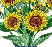 Sunflowers Bouquet Sticker