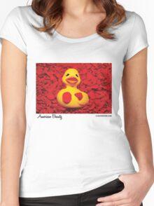 American Beauty Duck Women's Fitted Scoop T-Shirt