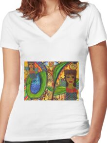 Love Angels T-Shirt Women's Fitted V-Neck T-Shirt