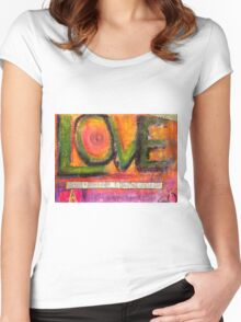 Love in All Its Dimensions T-Shirt Women's Fitted Scoop T-Shirt