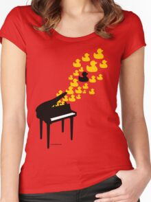 Duck Music Women's Fitted Scoop T-Shirt