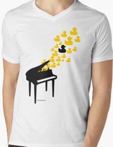 Duck Music Mens V-Neck T-Shirt