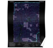 USGS Topo Map Washington State WA Abercrombie Mtn 239721 1992 24000 Inverted Poster