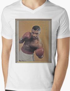 Mike Tyson-PROFESSIONAL BOXER Mens V-Neck T-Shirt