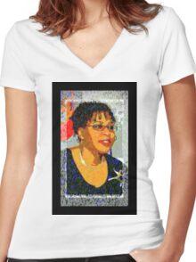 I Am The Artist T-Shirt Women's Fitted V-Neck T-Shirt