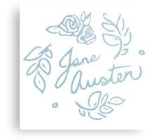 Jane Austen Floral Print Metal Print