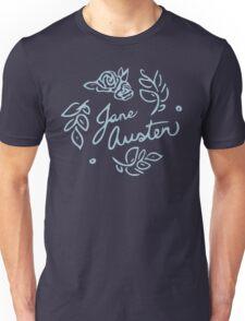 Jane Austen Floral Print Unisex T-Shirt