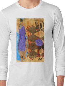Purple Dress T-Shirt Long Sleeve T-Shirt
