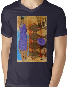 Purple Dress T-Shirt Mens V-Neck T-Shirt