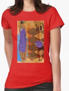 Purple Dress T-Shirt Womens Fitted T-Shirt