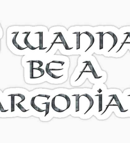 Argonian Text Only Sticker