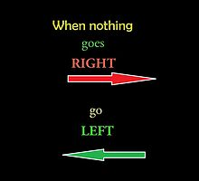 go left by Saif Zahid