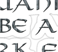 Dark Elve Text Only Sticker