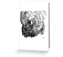 Senescent 7 - charcoal drawing Greeting Card