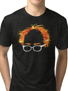 Flaming Bernie Shirt - #Feelthebern Tri-blend T-Shirt