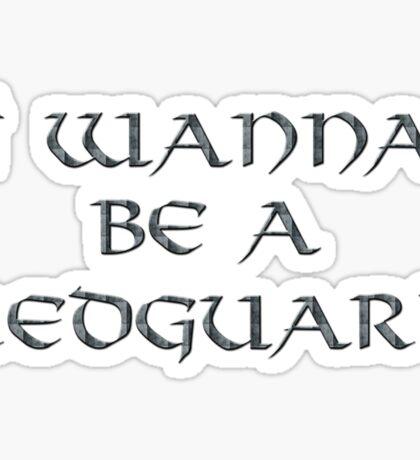Redguard Text Only Sticker