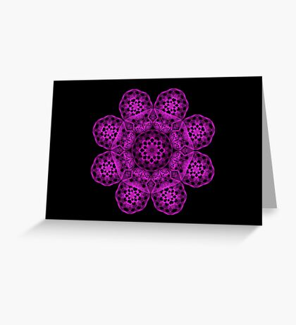 Magenta Spirograph II Greeting Card