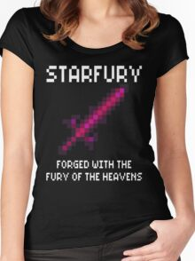 Starfury (Terraria White Font) Women's Fitted Scoop T-Shirt