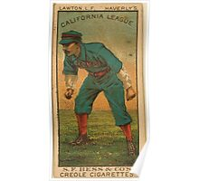 Benjamin K Edwards Collection Lawton Haverly Team baseball card portrait Poster
