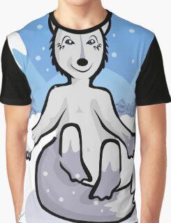 Happy Little Snow Fox Graphic T-Shirt