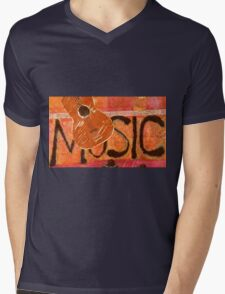 We Just Love Music T-Shirt Mens V-Neck T-Shirt
