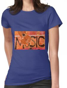 We Just Love Music T-Shirt Womens Fitted T-Shirt