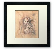 Da Vinci`s Angel Framed Print