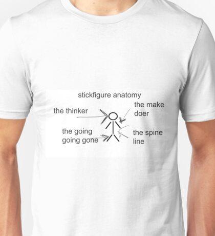 stickfigure anatomy Unisex T-Shirt