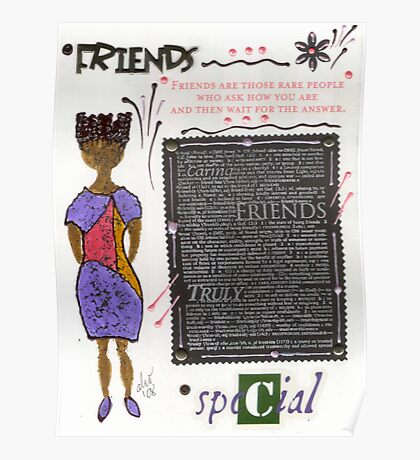 Friends are RARE Poster