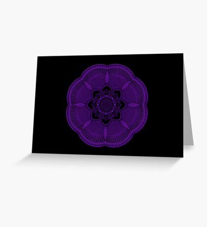 Purple Scribble Greeting Card