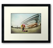Acroyoga Practice at Brooklyn, New York Framed Print